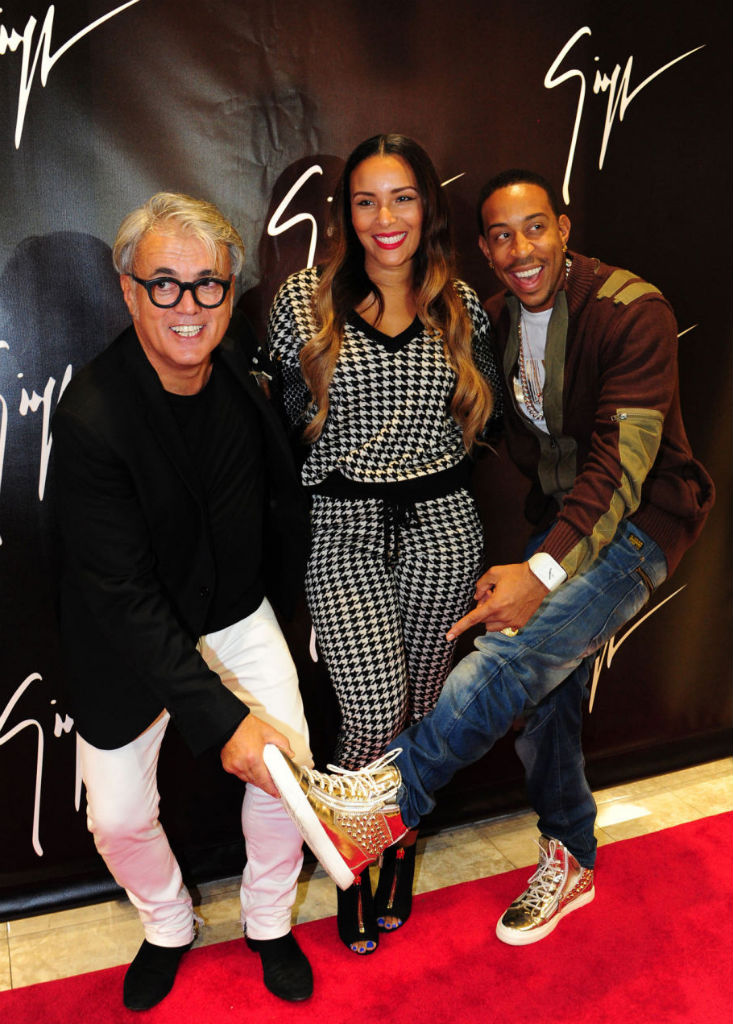 Ludacris wearing Giuseppe Zanotti Studded Zip-Up Sneakers