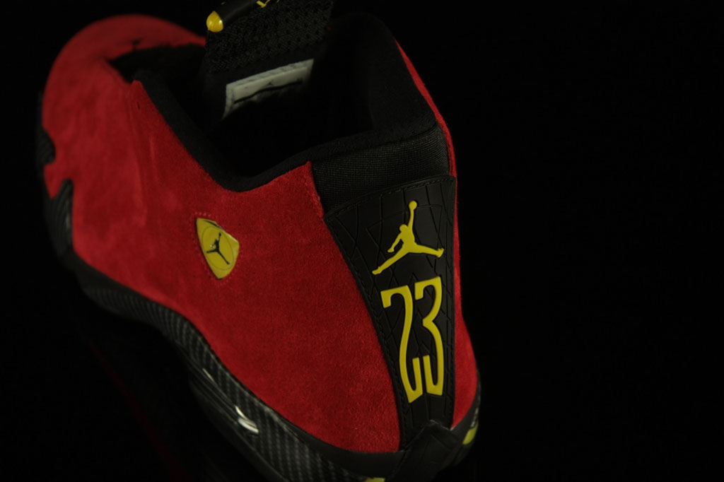 Air Jordan XIV 14 Ferrari Red Suede 654459-670 (7)
