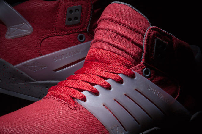 Supra Skytop III Red Waxed Canvas (3)