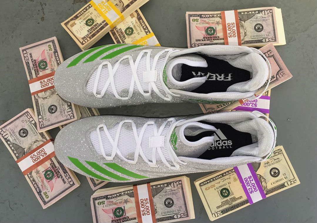 Von Miller Diamond Money Bag Gang Cleats