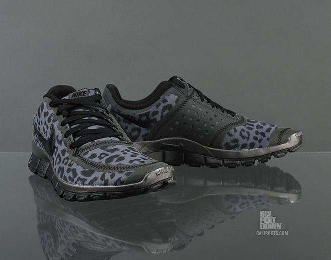 nike free 5.0 leopard print black