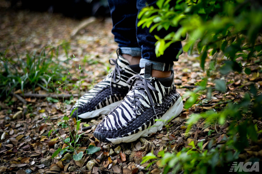 foshizzles wearing the 'Zebra' Nike Air Footscape Woven Chukka