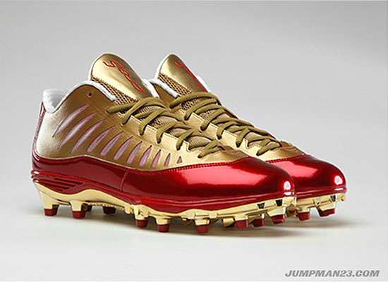 Jordan Super.Fly PE Cleats Michael Crabtree San Francisco 49ers (1)