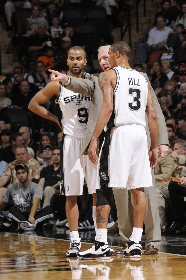 Georgie Hill wearing the Nike Zoom BB II; Tony Parker in the Nike Zoom Brave IV