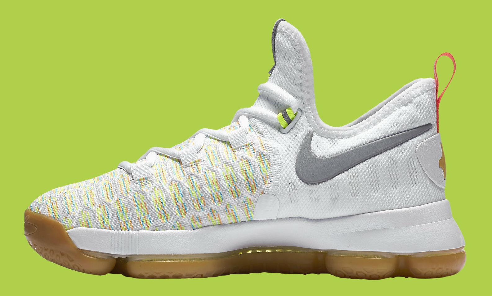 Multicolor Nike KD 9 Medial 843392-900