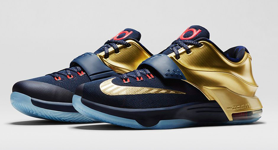 release date: 9aa23 5377c An Official Look at the  Gold Medal  Nike KD 7