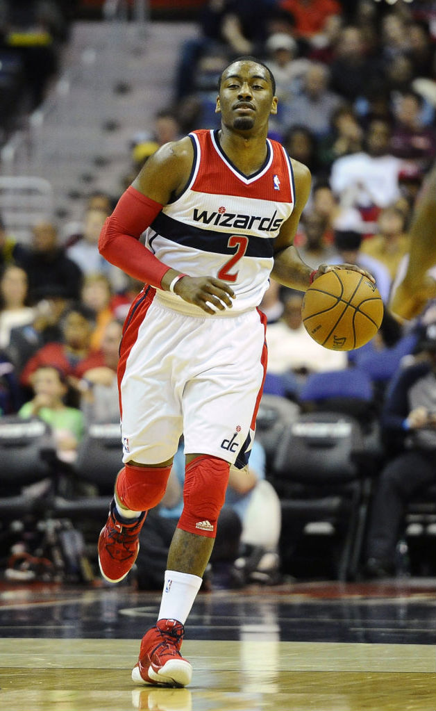 John Wall wearing adidas Top Ten 2000 Red Navy (4)