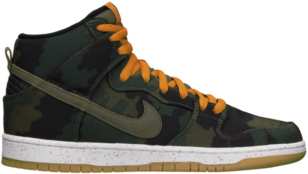 Nike Dunk High Premium SB Black/Olive Khaki-Sunset