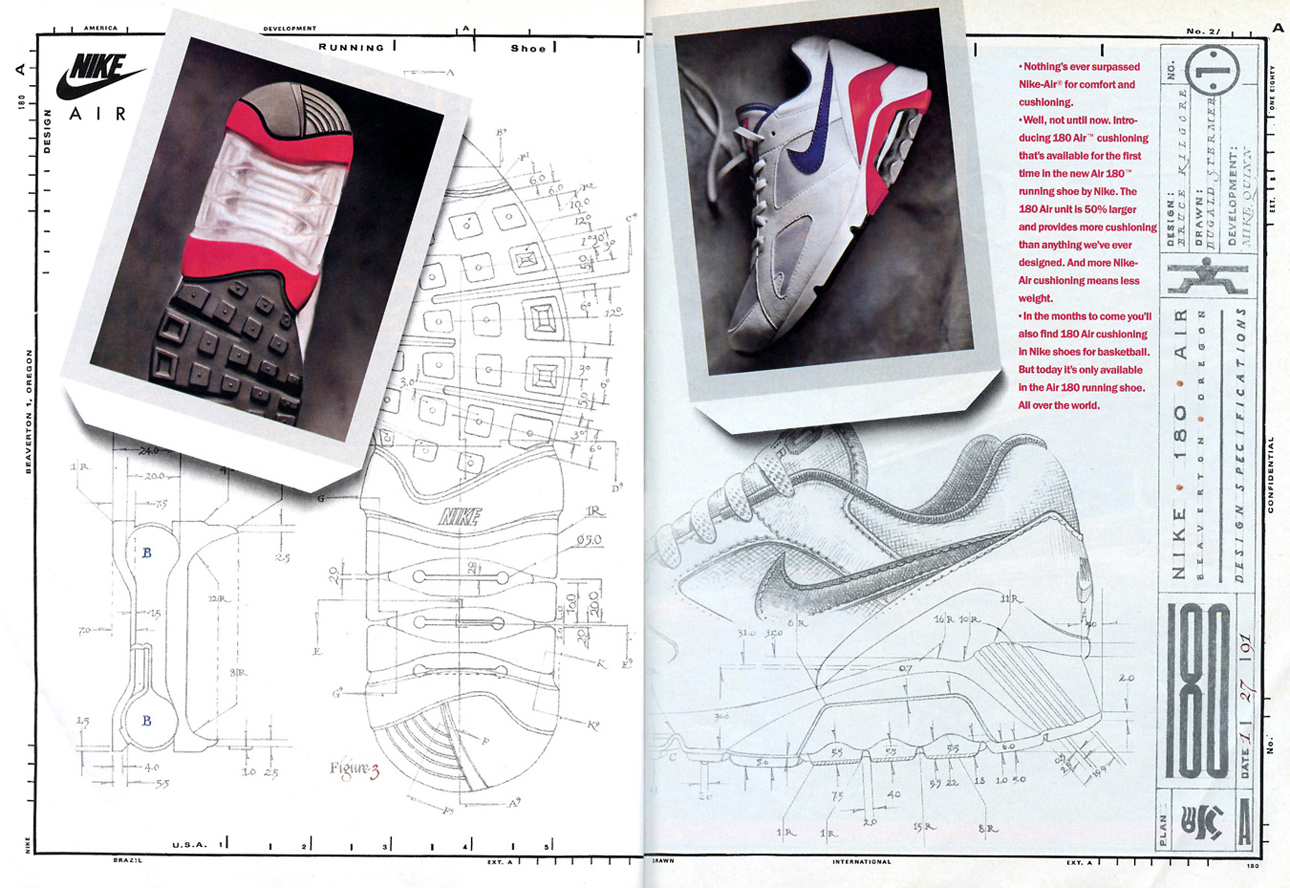 best service b1ce5 9f06a A original ad for a one of the greatest of all Nike running shoes.