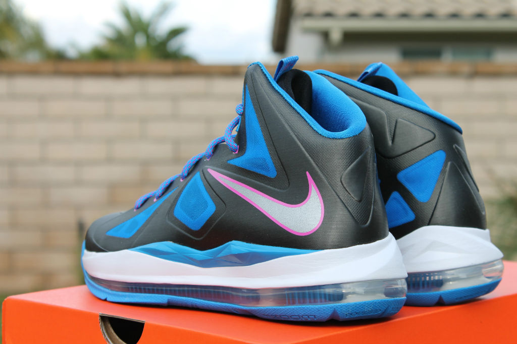 release date: 0f57d 94ba8 Nike LeBron X 10 GS Black Metallic Silver Photo Blue White 543564-005 (8