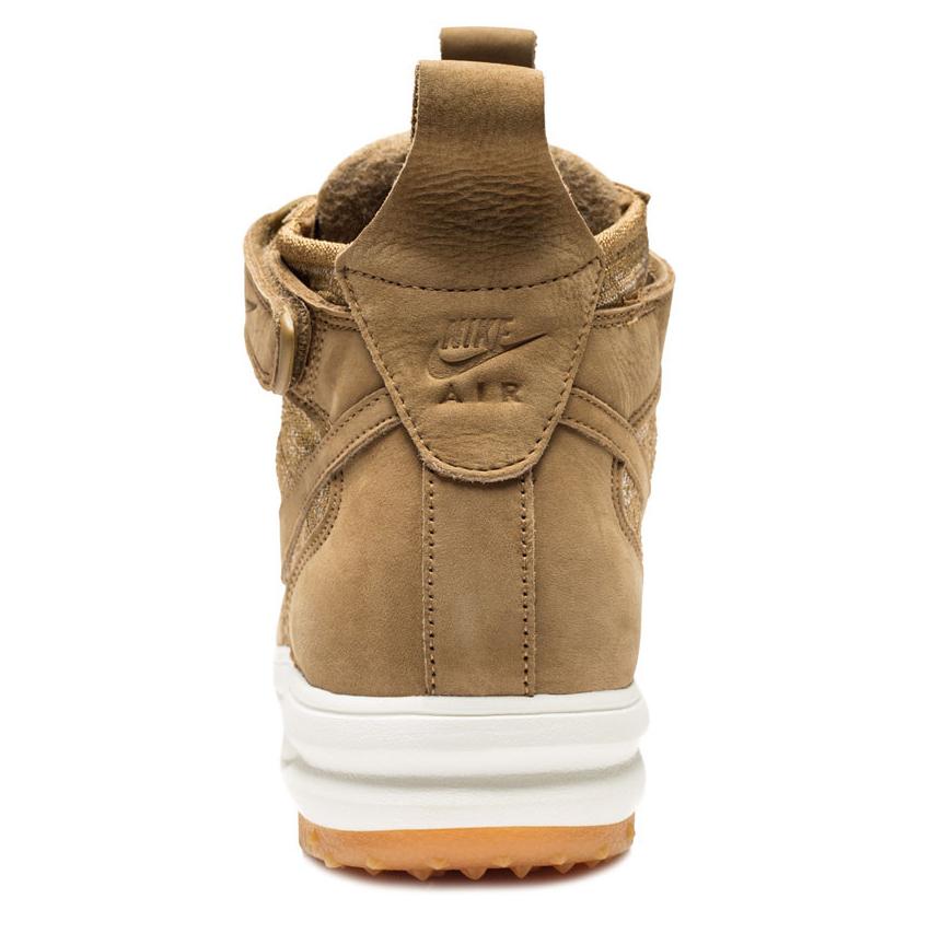 Wheat Nike Air Force 1 Boot Heel