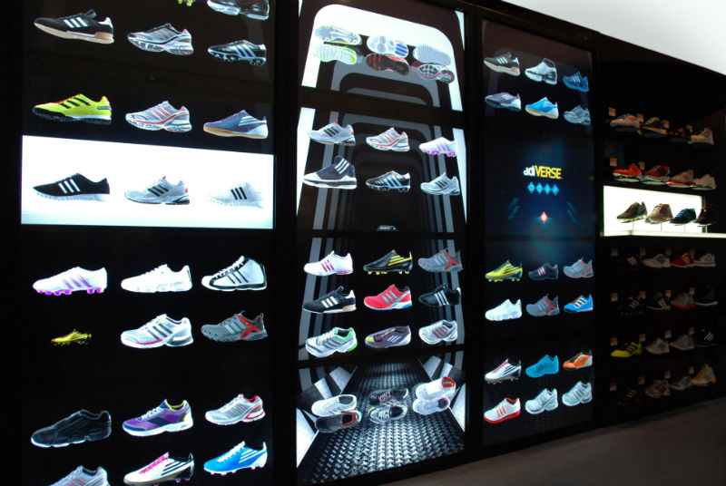 adidas adiVerse Virtual Shopping Wall