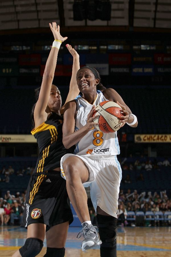 Swin Cash wearing Nike LeBron 9 Cool Grey