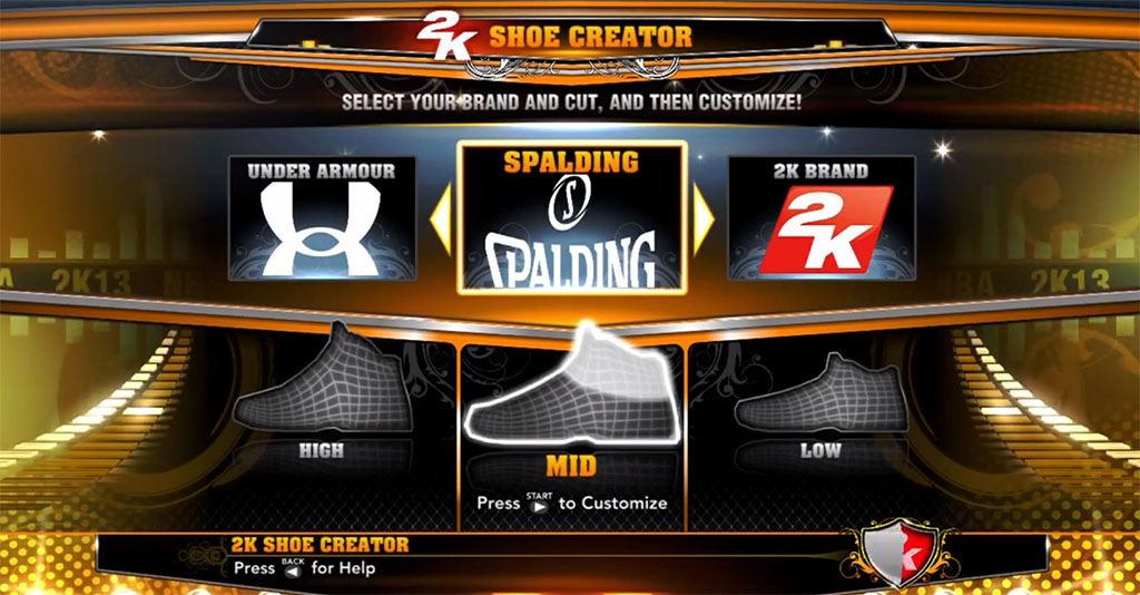 NBA 2K13 Sneaker Features // New Brands