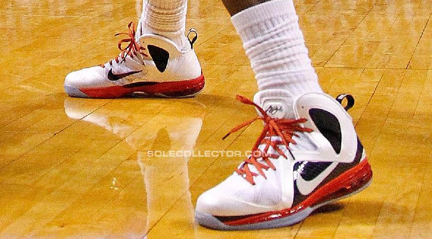 free shipping 7ed1b 5dd4f Nike LeBron 9 P.S. Elite White Black Red PE (2)