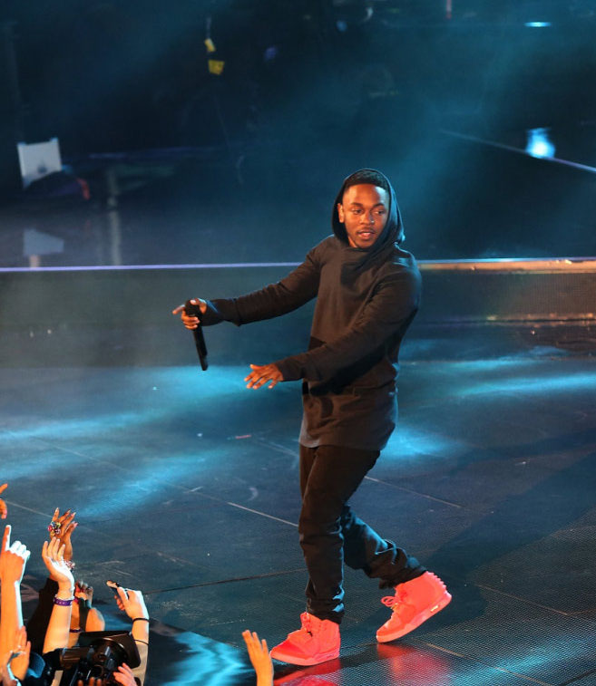 Kendrick Lamar Wears 'Red October' Nike Air Yeezy 2 (5)
