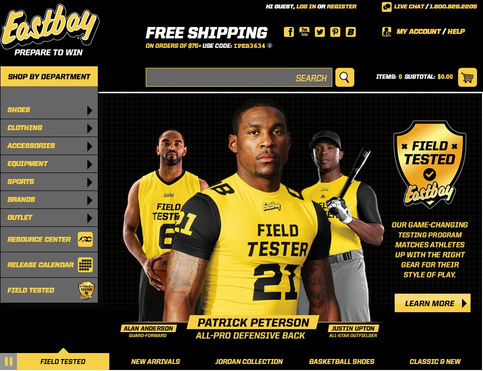 Eastbay Launches Re-Designed Website (3)
