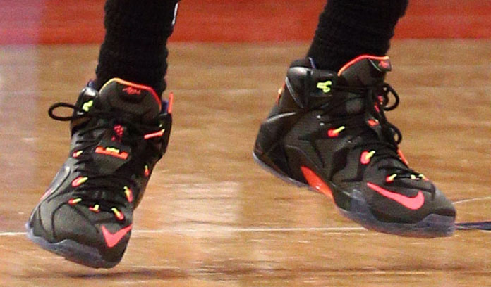 LeBron James wearing 'Data' Nike LeBron 12 (7)