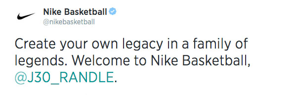 NIke Signs Julius Randle