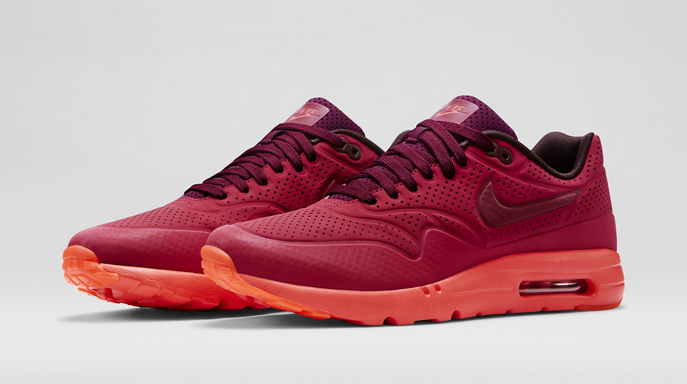 NIKE AIR MAX 1 ULTRA MOIRE Gym Red/University Red/Deep Burgundy
