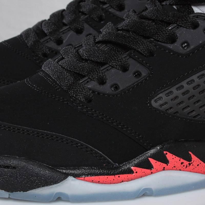 7f435d564368 Air Jordan Retro 5 GS - Black Alarming Red - Detailed Images