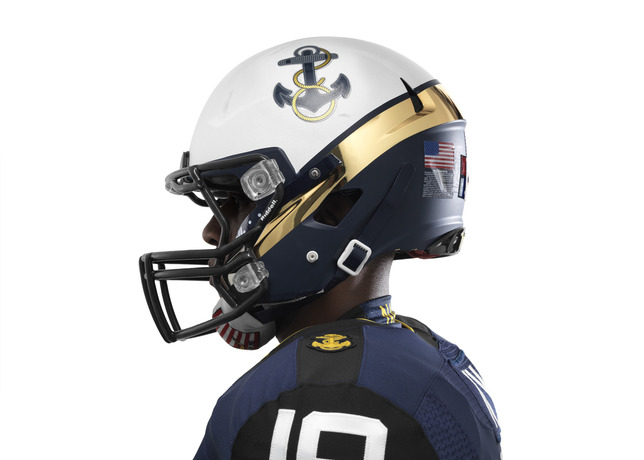 114th Army Navy Game Navy Nike Uniform helmet