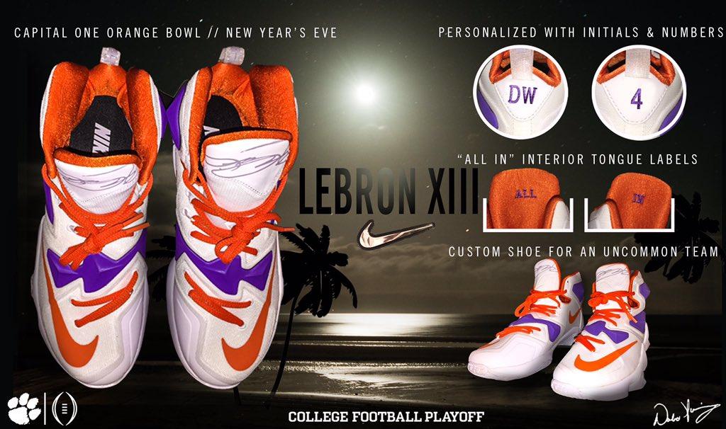 Clemson Nike LeBron 13