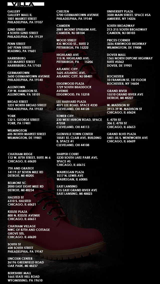 VILLA x Timberland 'JTM' 6-Inch Boot Launch Location List (2)