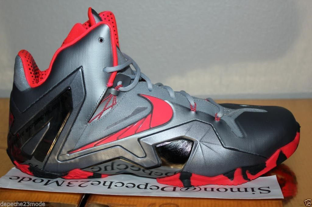 347e3eaa5fa Nike LeBron 11 Elite Wolf Grey Crimson Cool Grey Black 642846-001 (8)