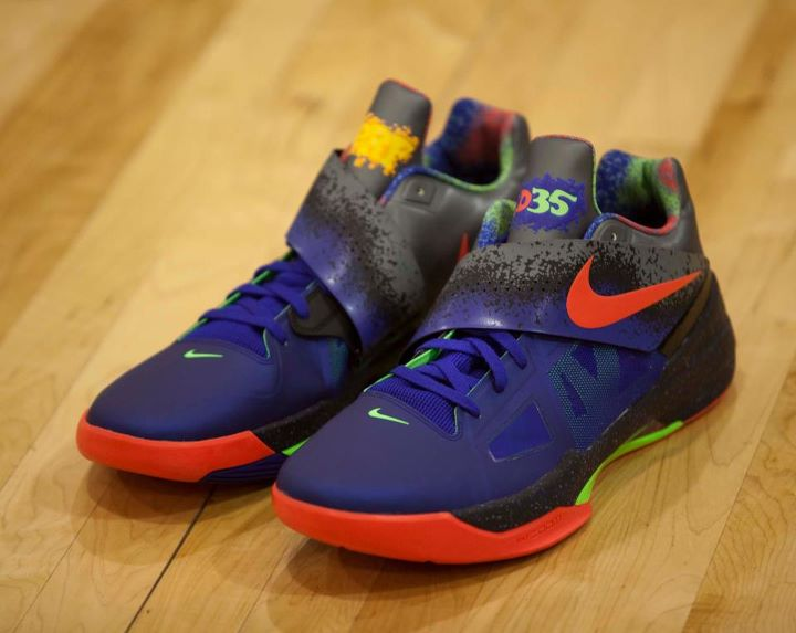 Kevin Durant Debuts NERF Nike Zoom KD IV in OKC Charity ...