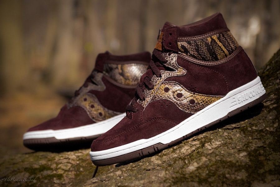new arrival e13b0 ae58c Packer Shoes x Saucony Hangtime Hi  Brown Snake