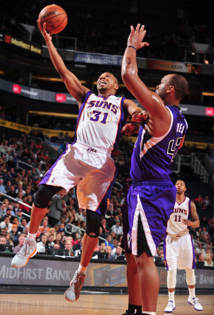Sebastian Telfair wearing adidas adizero  Crazy Light 2 Grey Orange