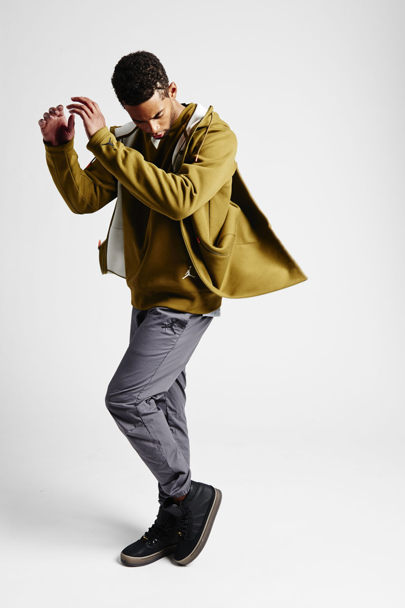 air jordan olive fleece parka