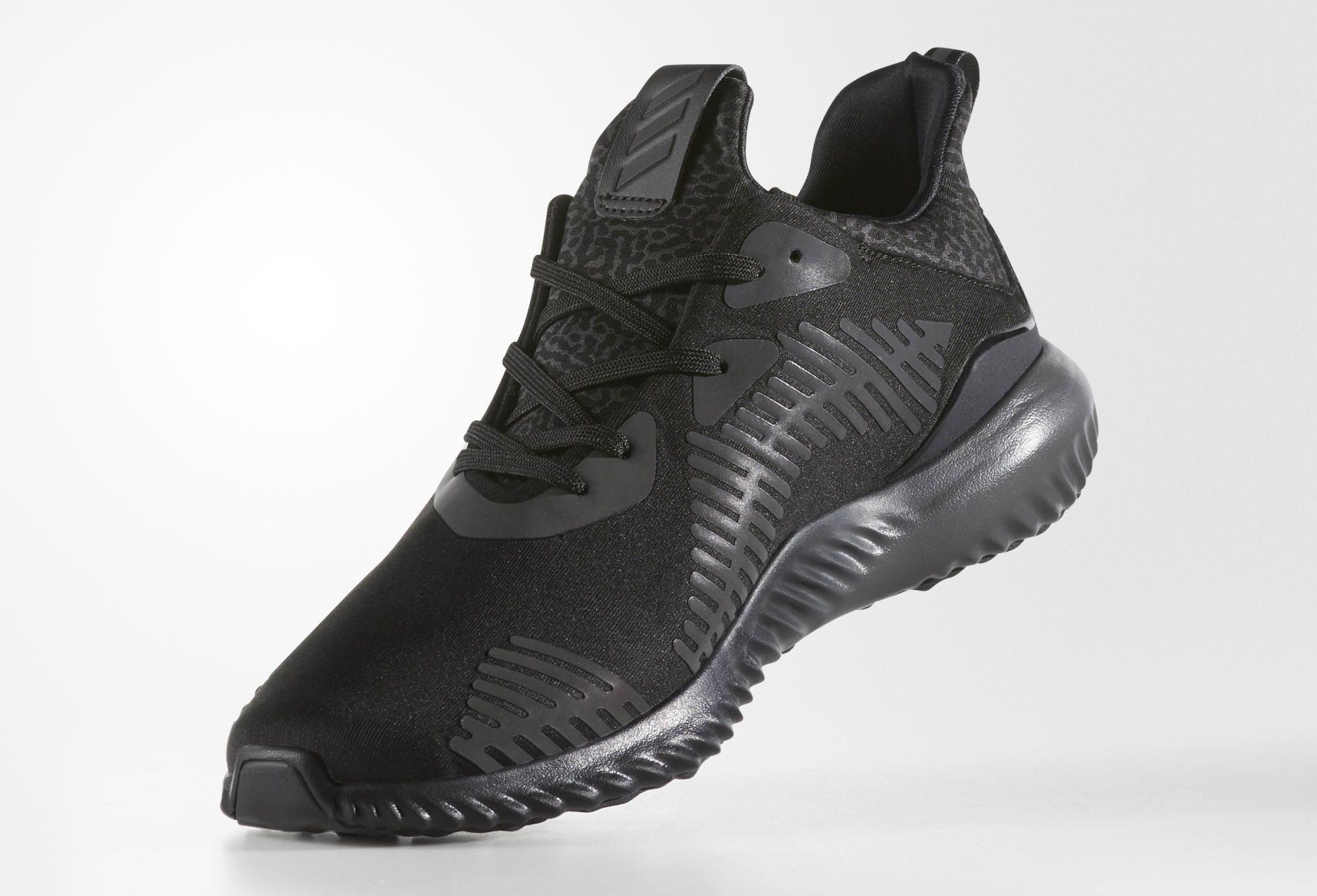Triple Black Adidas Alpha Bounce Xeno Medial
