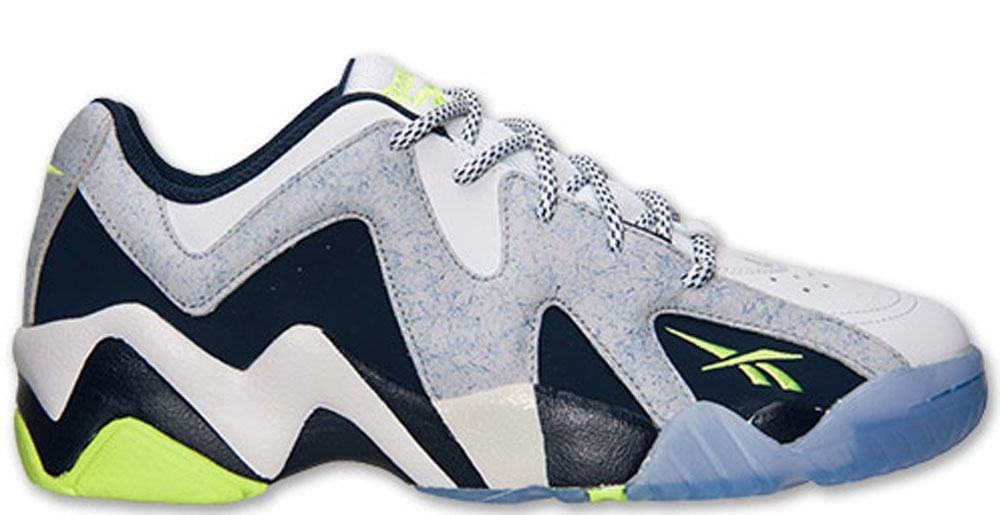 Reebok Kamikaze II Low White/Steel-Collegiate Navy-Solar Yellow