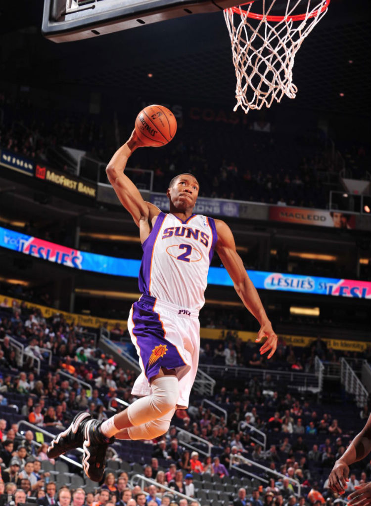 Wesley Johnson wearing adidas Crazy 8