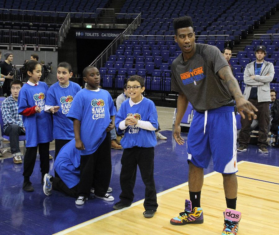 Iman Shumpert wearing adidas Originals JS Instinct Hi