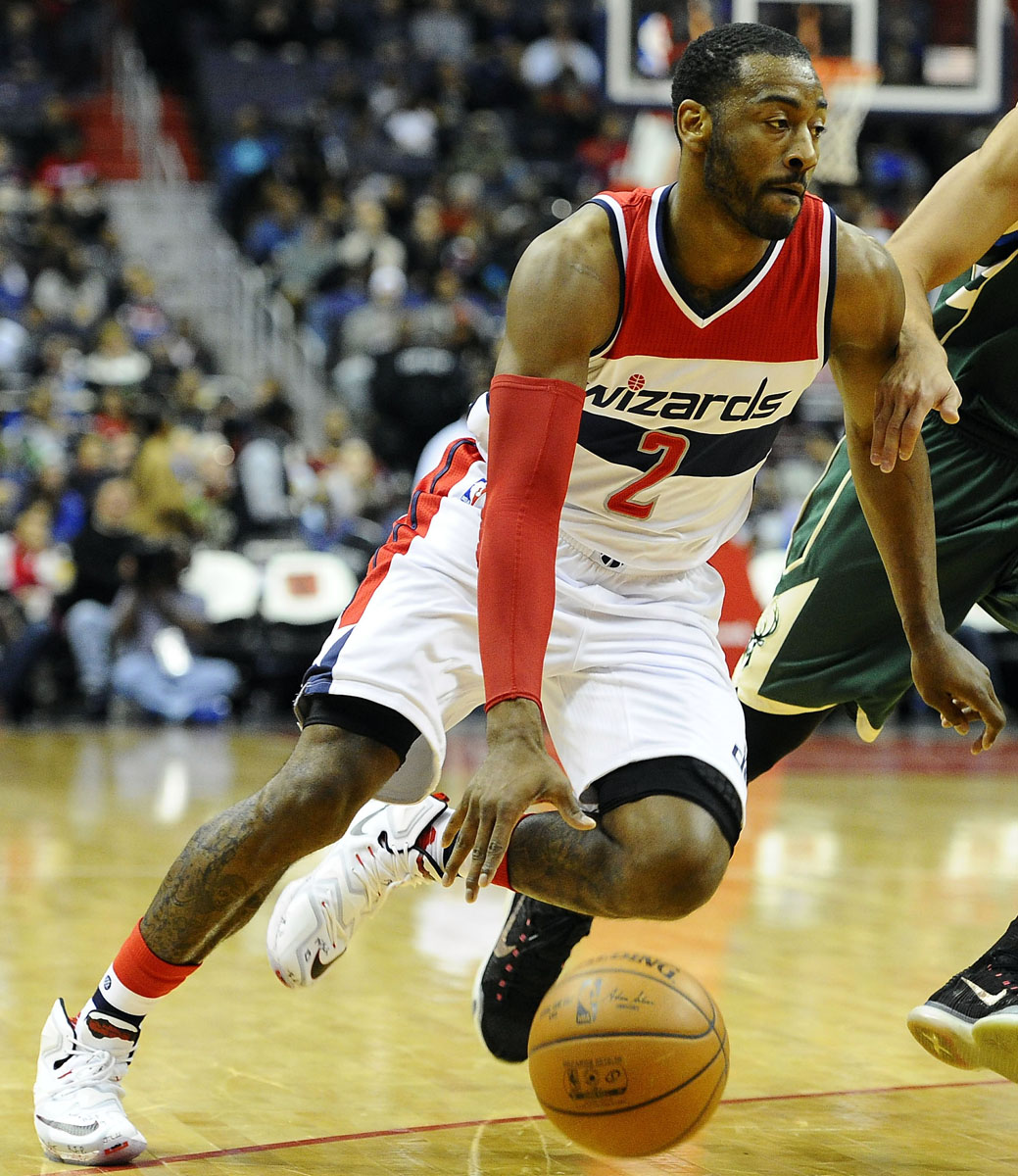 John Wall wearing the 'Horror Flick' Nike LeBron 13 (2)