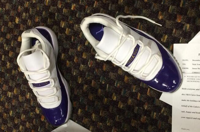 Nick Young May Be Wearing an Air Jordan 11 Low PE Today  5e9bbba3a