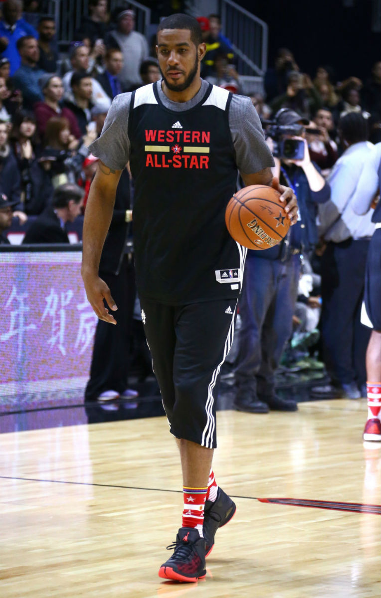 LaMarcus Aldridge Wearing the Jordan Super.Fly 4 PO