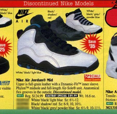 Air Jordan 10 in Eastbay Catalog 1995