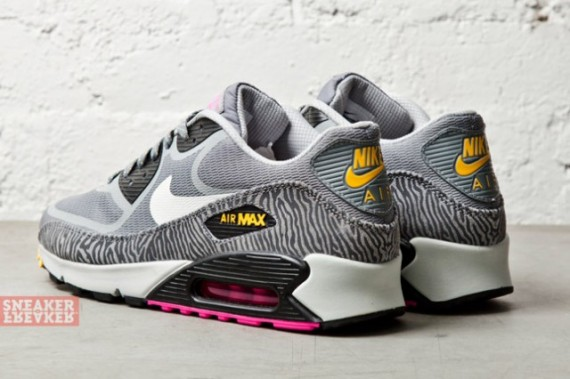 newest collection e09e5 13495 where can i buy wmns nike air max 90 prm tape grey zebra yellow pink 76528