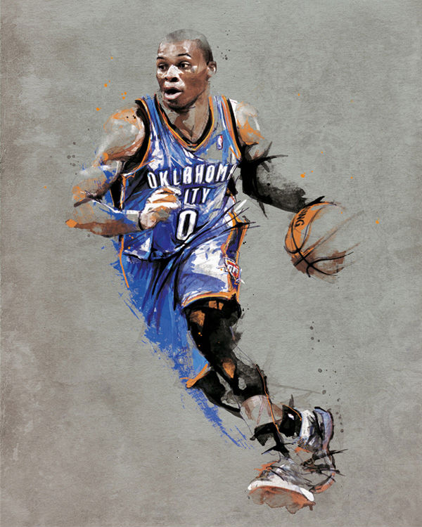 RareInk x NBA Russell Westbrook Artwork