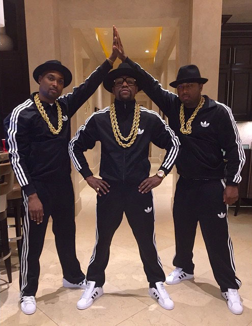 Floyd Mayweather wearing the adidas Superstar