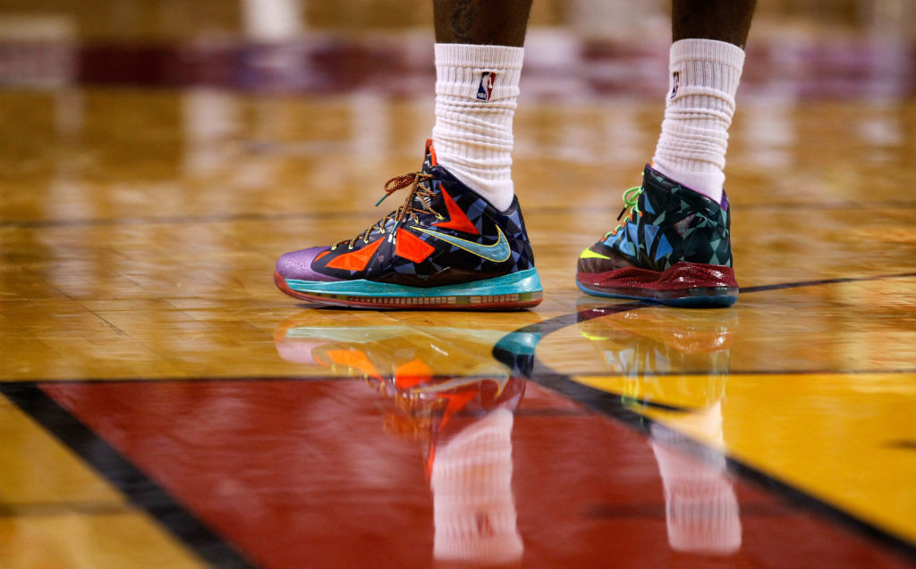 LeBron James wearing Nike LeBron X What the MVP (2)