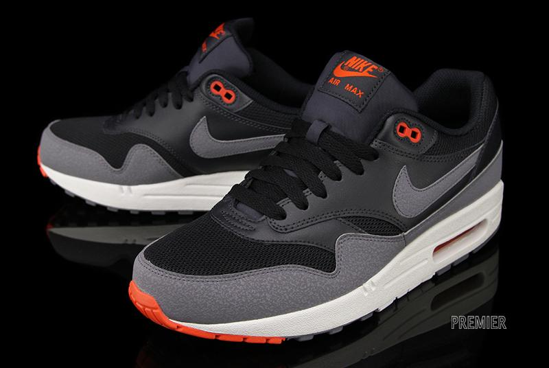nike air max 1 essential black cool grey team orange. Black Bedroom Furniture Sets. Home Design Ideas