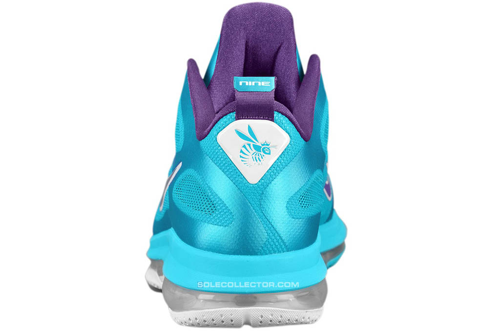 Nike LeBron 9 Low Summit Lake Hornets 510811-400 (3)