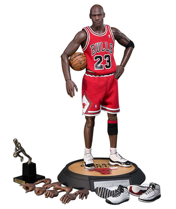 new style 3107c f7d98 Michael Jordan Action Figure wearing Air Jordans
