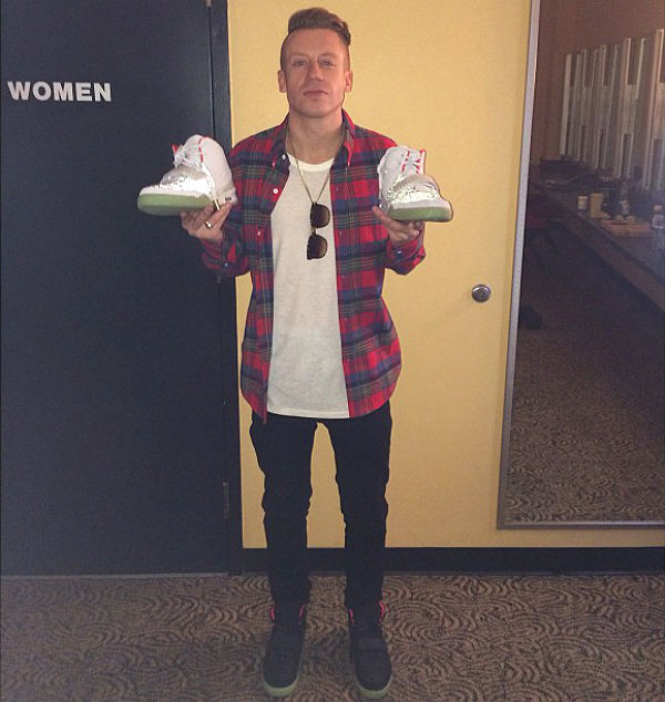 Macklemore wearing Nike Air Yeezy 2 II
