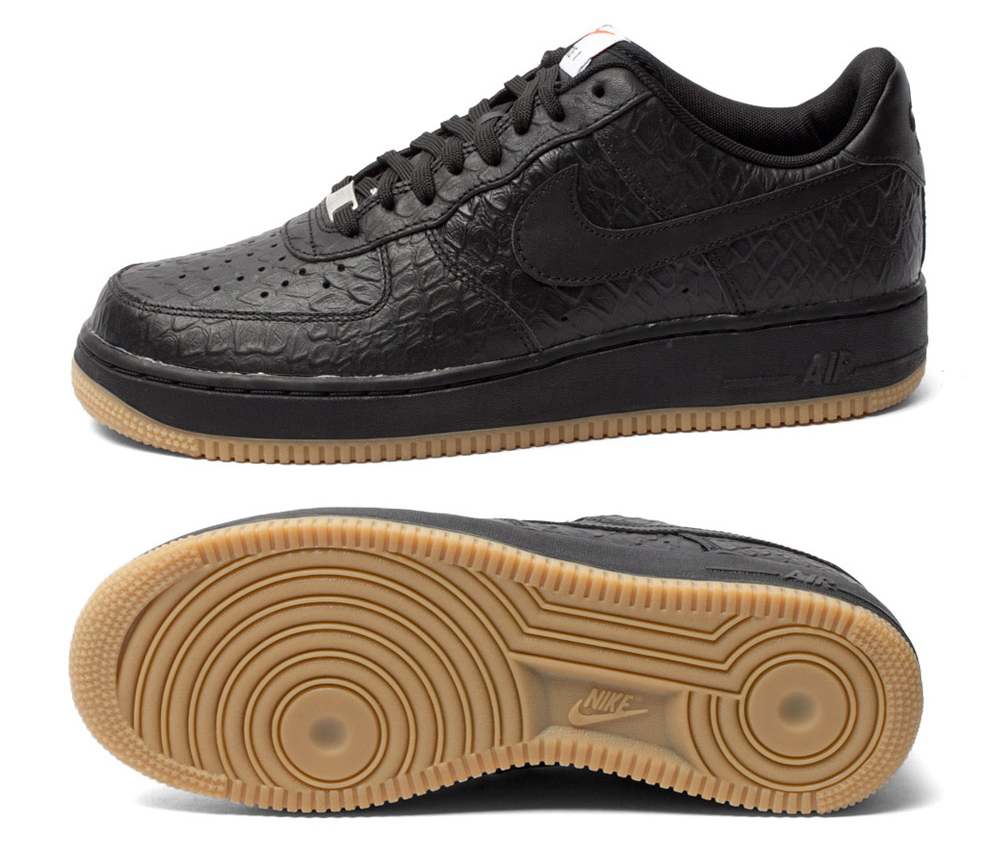 new style a9ffa 11471 Croc and Gum on the Nike Air Force 1